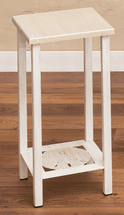 Weathered White Sand Dollar Accent Table
