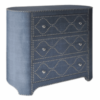Wedgewood Blue Linen Oval Cabinet