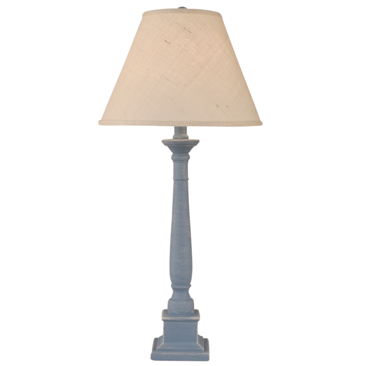 Wedgewood Blue Square Candlestick Table Lamp