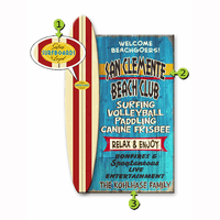Welcome Beachgoers Personalized Signs
