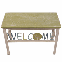 Welcome Bench with Moss Green Shell Top