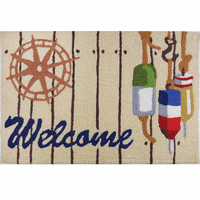 Welcome Buoys Indoor/Outdoor Rug