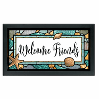 Welcome Friends Stained Glass Art - Large