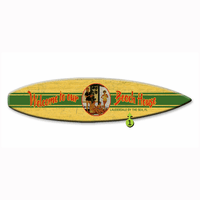 Welcome to Our Beach House Surfboard Wood Personalized Sign - 12 x 44