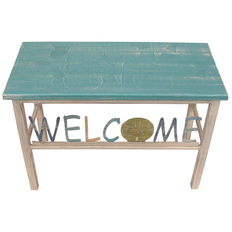 Welcoming Sand Dollar Bench