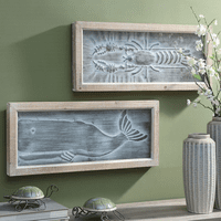Whale and Lobster Wall D�cor - Set of 2