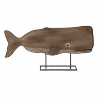 Whale Carved Wood Sculpture