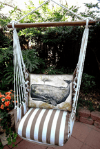 Whale Chocolate Stripe Swing Set