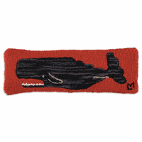 Whale Hooked Wool Pillow