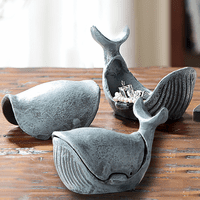 Whale Jewelry Boxes - Set of 2