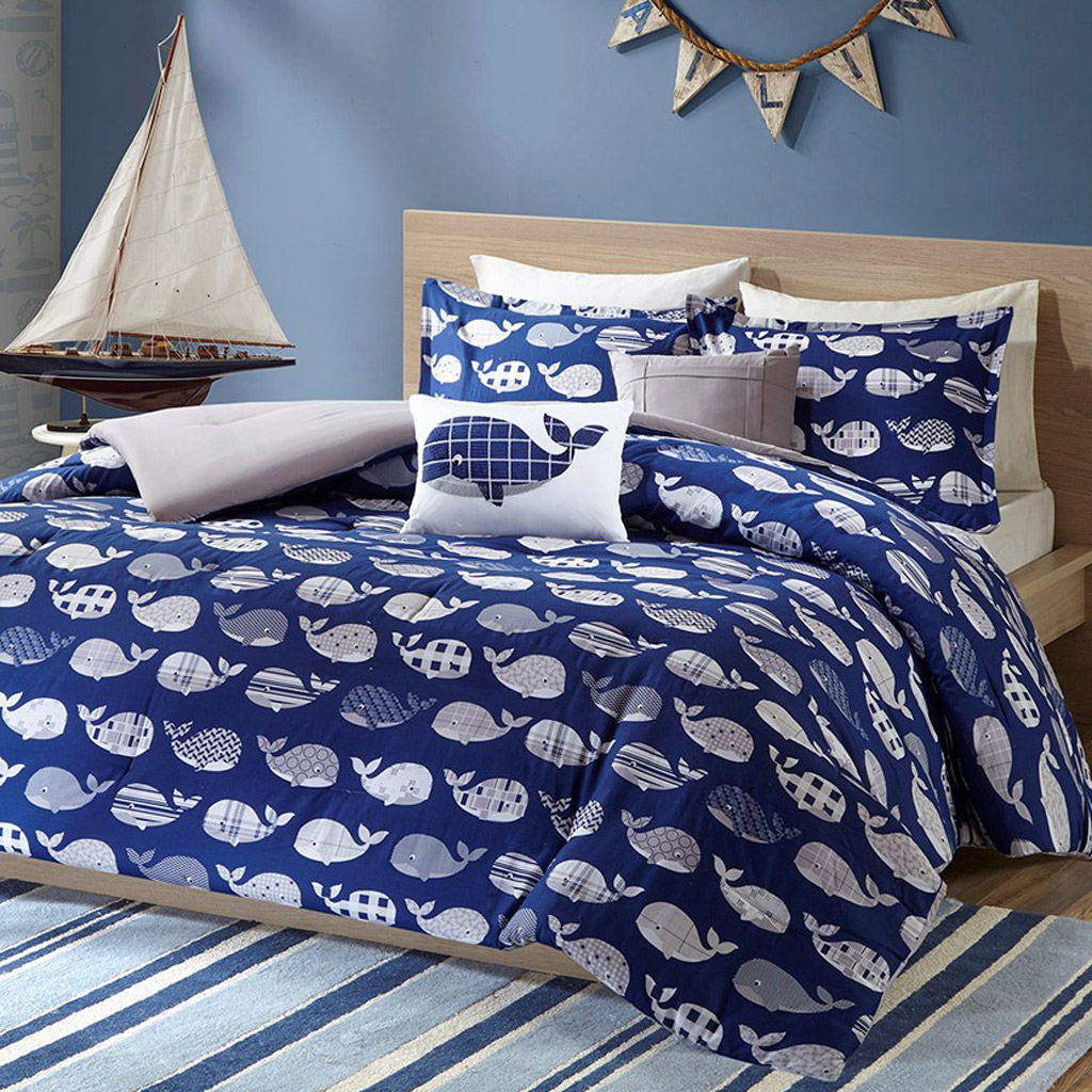 Coastal Bed Sets Twin Twin Xl Size Whale Love Coverlet