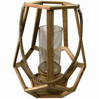 Whaler's Cove Wooden Candle Holder - Natural