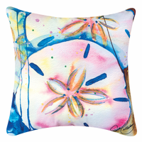 Whispers of the Ocean Sand Dollar Pillow