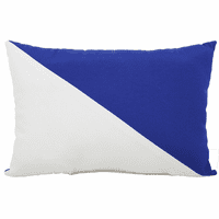 White and Blue Diagonal Flag Indoor/Outdoor Pillow