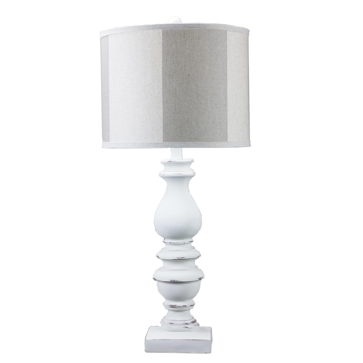White Candlestick Table Lamp