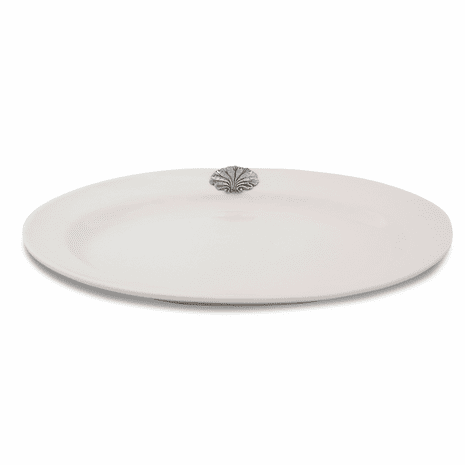 White Coquille Oval Tray