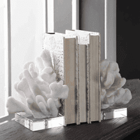 White Coral Bookends - Set of 2