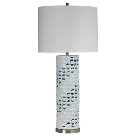 White Cutout School of Fish Table Lamp