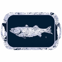 White Fish on Navy Tray