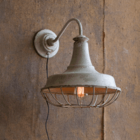 White Harbor Wall Sconce with Cage
