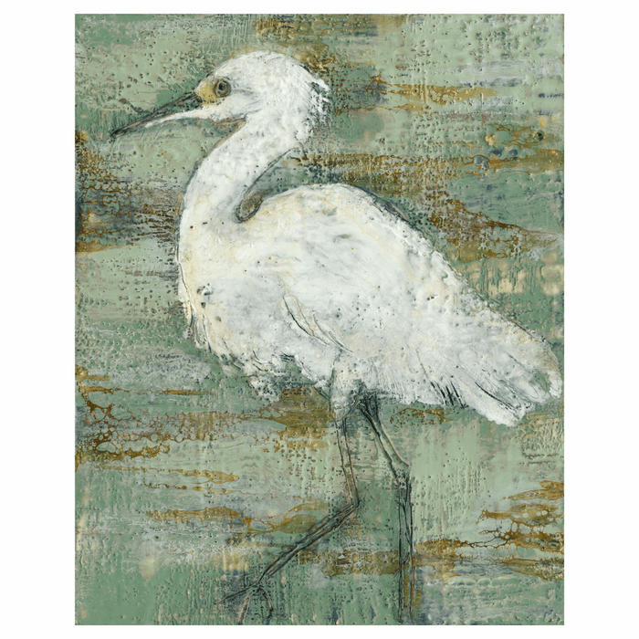 White Heron I Gallery Wrapped Canvas