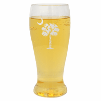 White Palm and Moon Beer Tumblers - Set of 4