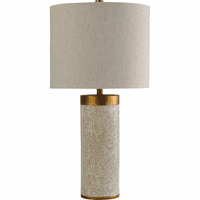 White Palms Table Lamp