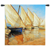 White Sails I Medium Wall Tapestry