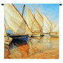 White Sails I Small Wall Tapestry