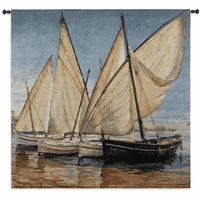 White Sails II Medium Wall Tapestry