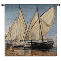 White Sails II Small Wall Tapestry