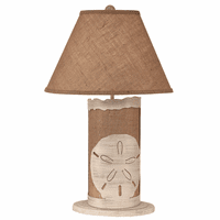 White Sand Dollar Table Lamp with Nightlight