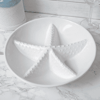 White Sands Starfish Divided Serving Bowl