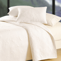 White Shell Matelasse Quilt - King - OUT OF STOCK