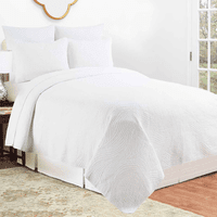 White Tide Quilt Set - Full/Queen