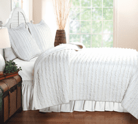 White Waves 3-Piece Quilt Set - Full/Queen