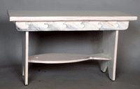 White with Waves Fish Bench - OUT OF STOCK