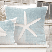 Whitewashed Starfish Pillow
