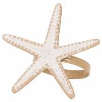 Whitewater Starfish Napkin Rings - Set of 6