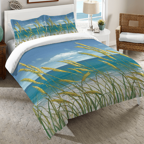 Windy Seagrass Comforter - King