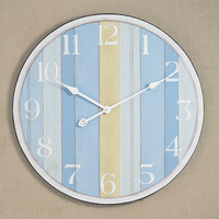 Wood Coastal Wall Clock - CLEARANCE