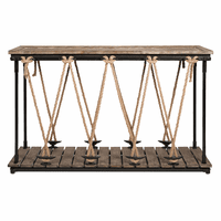 Wood & Rope Console Table