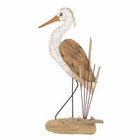 Wooden Heron Wall Art