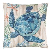 Wooden Plank Sealife I Pillow - OUT OF STOCK