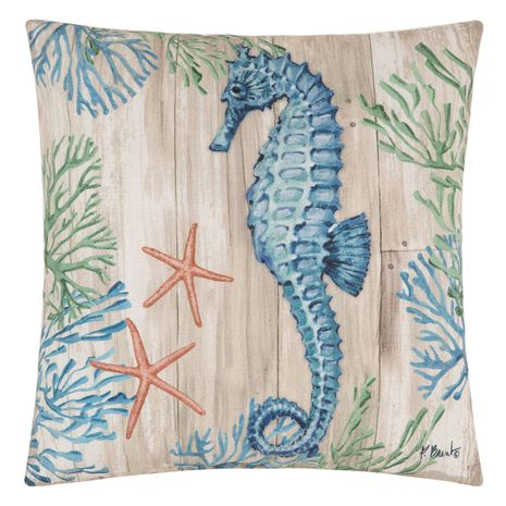 Wooden Plank Sealife II Pillow