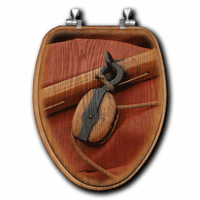 Wooden Pulley Toilet Seats