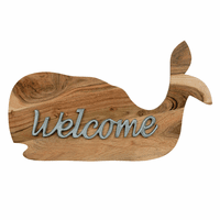 Wooden Whale Welcome Sign - BACKORDERED UNTIL 7/30/2021