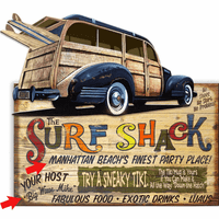Woody Surf Shack Personalized Wood Signs