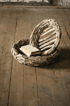 Woven Wood Bowls - Set of 2