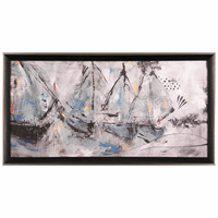 Yacht III Framed Canvas